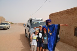 Moha (our guide) and the boys