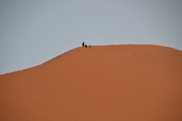 Kids hanging out on the Sand dune